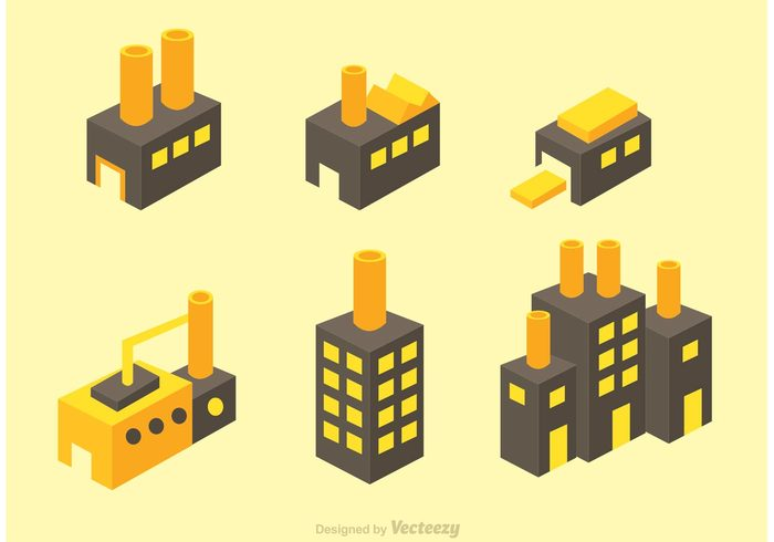 isometric-factory-vector-icons