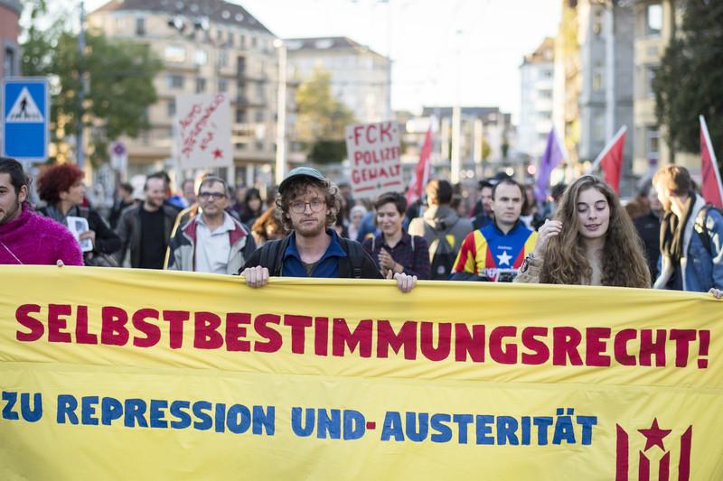 Catalonia Independence demonstration in Zurich