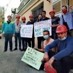 Чиновники тікали від шахтарів «КЗРК» (ВІДЕО)